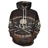 Harley Davidson - Sudadera con capucha para hombre, diseño de anime impreso en 3D, ideal para gimnasio