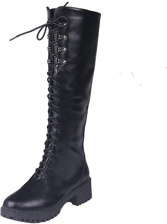 YUCH Damen Stiefel Mit Schnalle Side Zip Pu Martin Stiefel    Deutschland Store    Louis, ausführlich