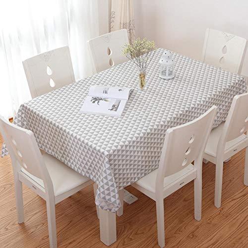 GTWOZNB Borla del Paño de Tabla del Lino del Algodón para la Cubierta de Tabla de Cena del Banquete Simple y Fresco-veinticuatro_El 120 * 180cm