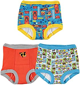 Disney Boys' Cars Toy Story Nemo 3 Pack Training Pant