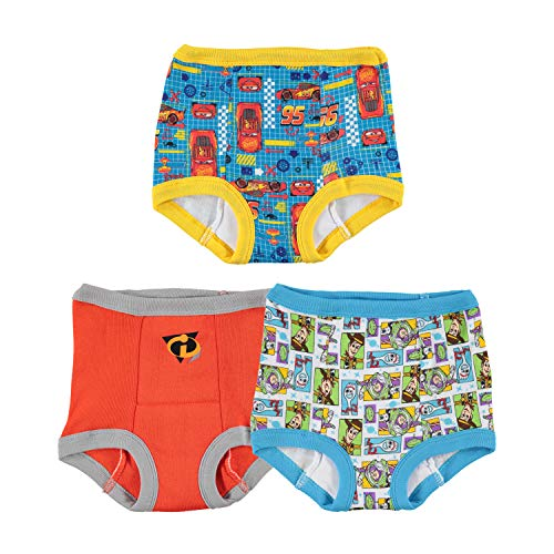Disney Toddler Boys' Cars Toy Story Nemo 3 Pack Training Pant, Assorted, 3T