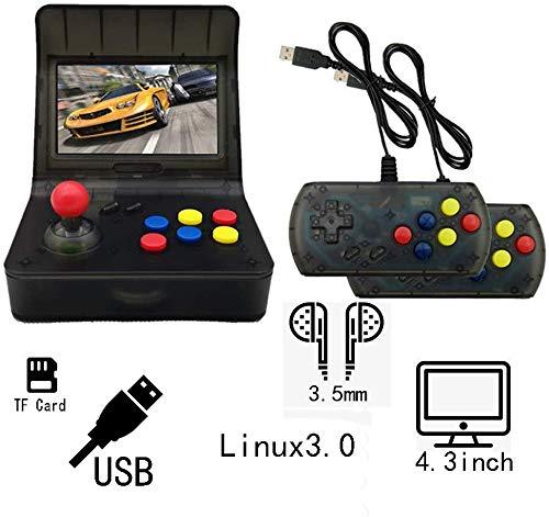 ZGYQGOO Console Jeu rétro, Manette Filaire, contrôleur pour contrôleur Jeu AVG RPG PSP Bluetooth, Manette Jeu Filaire Rechargeable, Manette Jeu Manette Filaire, Cube Jeu, BlackRed