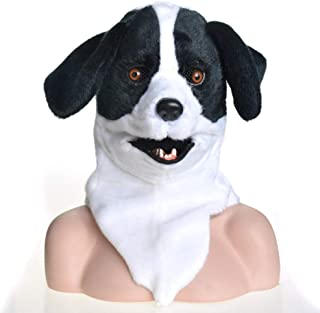 JIUYAODIANZI Decorative mask Full Head Animal Moving Mouth Cosplay Carnival Costume Dog Bleach Animalmasks for Sale Mask (Color : Black)