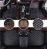 Muchkey Auto Tapetes de Piso para Audi A3 1999-2003 Alfombrillas Impermeable Antideslizante de Cuero Interior alfombras Beige Negro