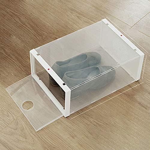 ZZPP Caja de Zapatos,Caja de Almacenamiento de Zapatos,Cajas de Zapatos de plástico apilable Plegable Inicio Organizador de Zapatos para Hombres/Mujeres de Gran tamaño