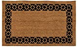 Juvale Natural Coir Door Mat - All Season Indoor Outdoor Welcome Doormat, Easy Clean, PVC Anti-Slip Backing Front Entry Mats, Brown, 17.2 x 30 x 0.5 Inches