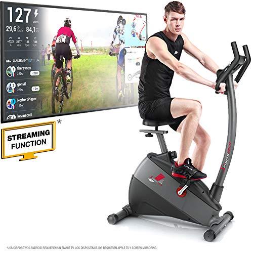"""Sportstech Sconto sul PREORDINE - Ergometro ESX500 Marchio di qualità Tedesco- Eventi Video e Multiplayer App+5,5"""" Display, Volano da 12KG, Compatibile Cintura pulsazioni -Cyclette silenziosa"""