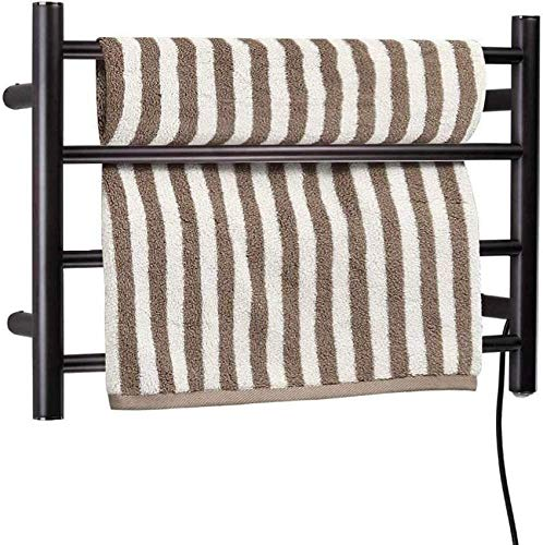 ADSE Electric Towel Warmer, 4-Bar Electric Towel Drying Rack for Bathroom, Oil Rubbed Bronze Heated Towel Rack, Best Choice for Bathroom Decoration in Your Home Heater Towel Rack for Bathroom