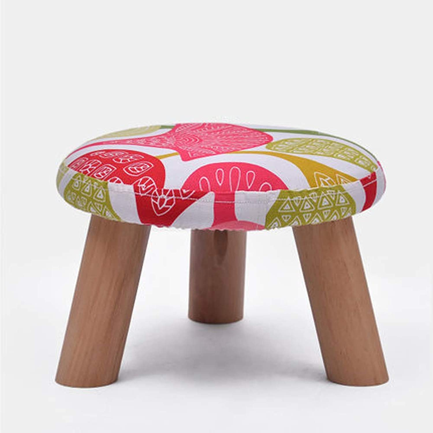Stylish Stool, Padded shoes Bench Non-Slip Durable Solid Wood Legs,3