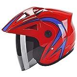 QAQ Casque ABS Materiel Sport Moto Velo Course Securite Protection Anti-Pluie Anti-Buée,Camouflage,Onesize