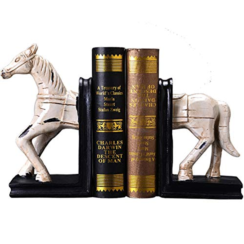 Lrxq boekensteunen in Amerikaanse stijl minimalistisch creatief paard modelbouw boekensteunen tafel studio handwerk