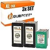 Bubprint 3 Druckerpatronen kompatibel für HP 350 351 XL 350XL 351XL für Deskjet D4260 D4360 Officejet J5730 J5780 J5785 J6400 Photosmart C4200 C4280