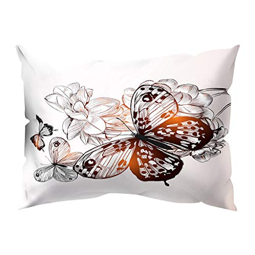 Houshelp Butterfly Print Pillow Covers Pillow Covers Decorative Throw Pillow Cases Cushion Case for Sofa Couch Bed Home Decorations Indoor Outdoor Decorations for Sofa Outdoor Camping 30x50cm