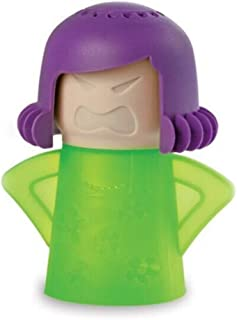 Angry Mama Microwave Cleaner Easily Crud in Minutes .Steam Cleans and Disinfects with Vinegar and Water for Kitchen Christmas Gifts (1pcs-Green)