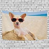 FPDecor Tapisserie Wandbehang,Wandteppich Glasses Dog Carpet Drucken Sie Hippie-Wandteppiche Bettlaken Dekoration für Schlafzimmer Wohnzimmer Schlafsaal