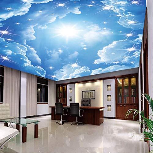 3d Tapete Fototapete Hintergrund-Tapeten3d ceiling wallpaper beatiful blue sky cloud wall mural home decoration-Über 350 * 245 cm