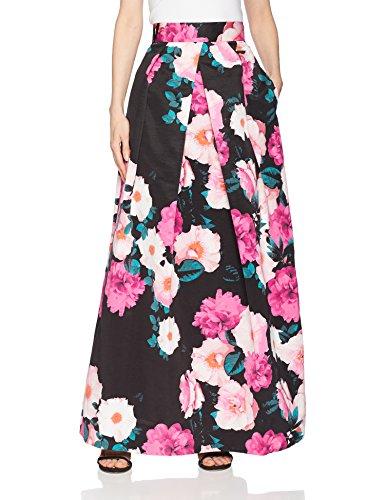 Eliza J Women's Floral Separate Ballgown Skirt, Pink/Black, 14