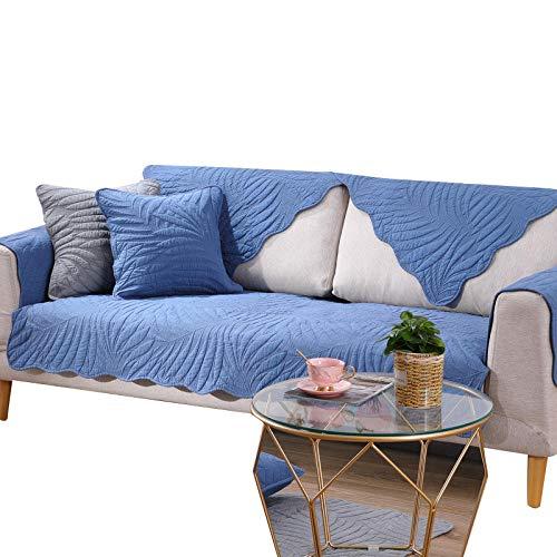 rutschfeste Couch Armchair Slipcover aus moderner Baumwolle Sofaschoner ecksofa Küchen-/Lounge-Sofa-Schutzhülle 1/2/3/4 Sitzer Couchabdeckung,Blue,70x180cm