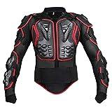 SHUOJIA Armatura Moto Giacca Moto Protezione Di Motocross Corpo Armatura Indumenti Di Protezione Completa Moto Professionale Sportivo (Black red,L)