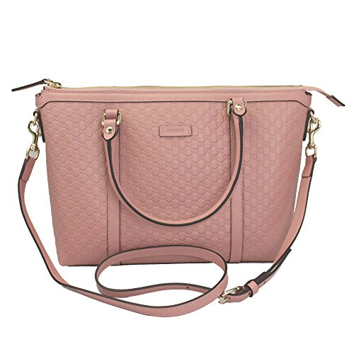 Gucci Guccissima Pink Leather Tote Bag With Strap 449656