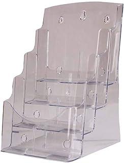 STOBOK Acrylique Porte-Brochure Affichage de Bureau 4 Niveaux Magazine Fichier Document Organisateur Titulaire Rack Rack p...