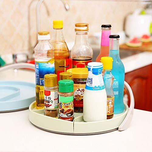 SZVVI Estantes de condimentos para escritorio Pull-type condimento tarro almacenamiento rack giratorio cocina almacenamiento suministros