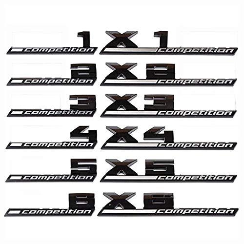 XDRE Emblema Autoadhesivo Emblema de Competencia ABS 3D Compatible con BMW Thunder Edition M1 M2 M3 M4 M5 M6 x1m x2m x3m x4m x5m x6m Etiqueta engomada del Tronco del Coche Sticker de Carro