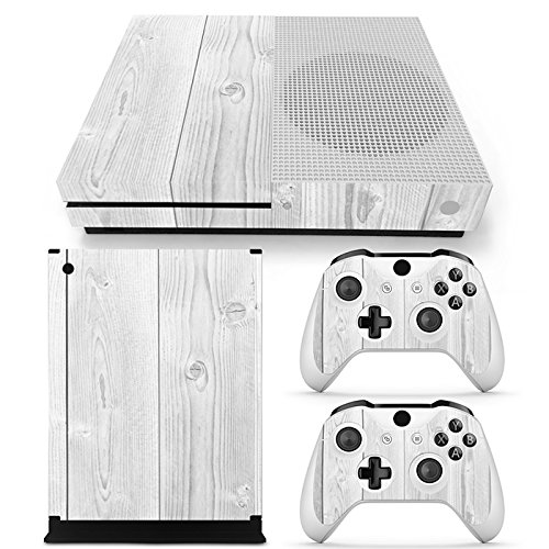 Microsoft XBOX ONE S Skin Design Foils Aufkleber Schutzfolie Set - White Wood Motiv