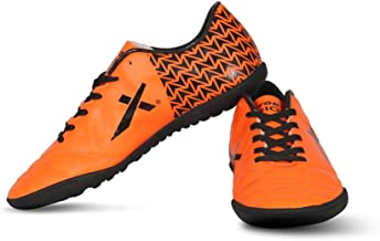 Vector X Orion Synthetic Indoor Football Shoes (Orange-Black)