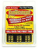Bait Cage Kit for Rat Traps – Makes Snap Traps Much More Effective – 3 Pack Includes Cup of Hazelnut Bait – for Victor Brand & Similar Rat Traps with Bait Hook – Safe, Easy, Non-Toxic