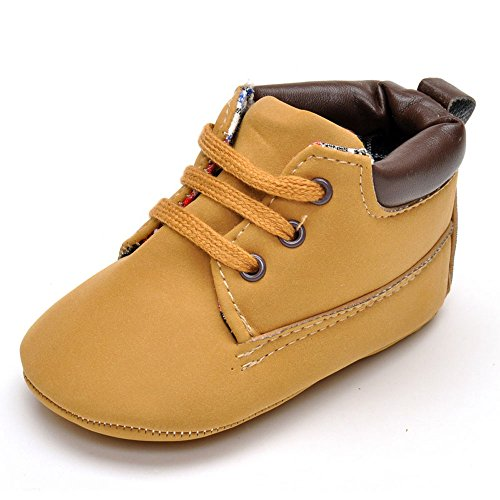 Enteer Infant Boys High-Top Sneaker Brown Baby Shoes US 3