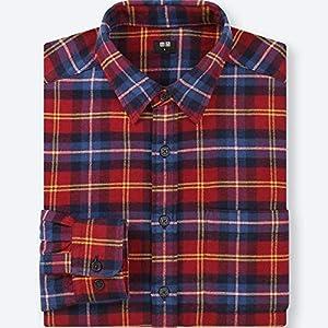 ユニクロ フランネルチェックシャツ 3XL オンラインサイズ メンズ ネルシャツ Uniqlo 大きいサイズ