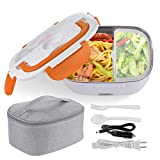 WeChef Electric Heating Lunch Box Portable Food Warmer Heater 1.5L with Removable Stainless Steel Container Orange