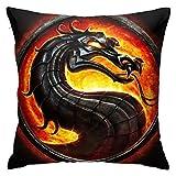 from Logo Dragon Mortal KombatThrow Pillows Covers Pillow Case Modern Cushion Cover Square Pillowcase Decoration-for Sofa Bed Chair Car Fundas para Almohada 16x16Inch(40cmx40cm)