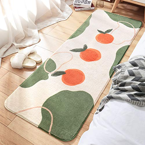 ラグキッチンマットカーペット低反発洗える夏冬絨毯長方形北欧おしゃれホットカーペット床暖房対応60x160cm…