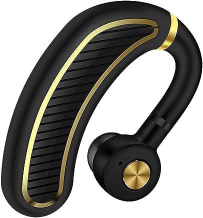 Bluetooth ヘッドセット ワイヤレス イヤホン Bluetooth イヤホン 片耳 ブルートゥースイヤホン 左右耳兼用 高音質 通話 ビジネス スポーツ 通勤 通学 車用V4.1 マイク内蔵 Iphone Android Windows PC スマートフォンに対応 ミニ 軽量 (ブラックゴールド)