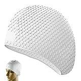 yuezhi Sombrero Impermeable de Silicona para Piscina con Protección para los Oídos Gorro de Natación de Silicona de Protección Auditiva Gorro de Natación Silicona Hipoalergénico