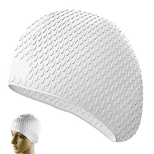 yuezhi Sombrero Impermeable de Silicona para Piscina con Protección para los Oídos...