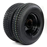 Motorhot 13' Trailer Wheel & Tire 175/80D13 LRC ET Bias Trailer Tires 5 Hole Black Steel Ring Pack of 2