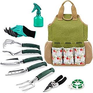 INNO STAGE Gardening Tools Set and Organizer Tote Bag with 10 Piece Garden Tools,Best Garden Gift Set,Vegetable Gardening ...