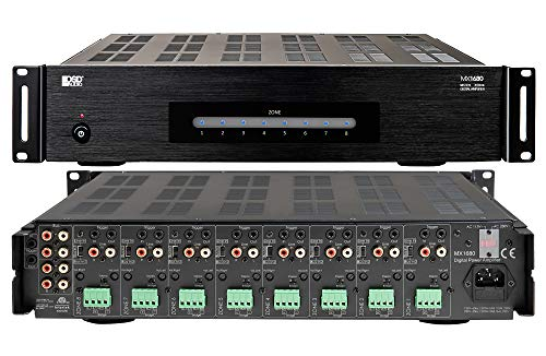 OSD Audio 8 Zone 16-Channel Digital Amplifier, 80W/Channel, Distributed Audio & Home Theater - MX1680