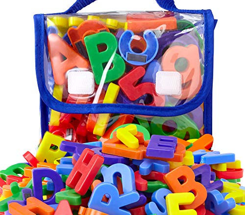 EduKid Toys 72 Magnetic Letters & Numbers (Tote) 1.25' - 1.75'
