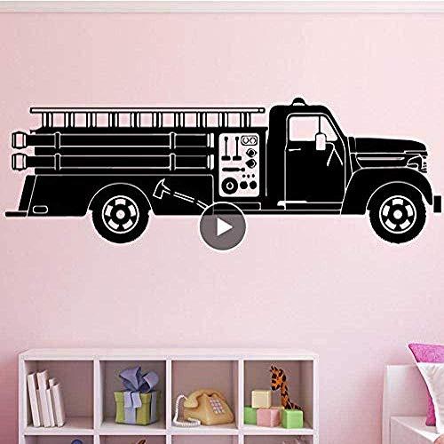 Pegatinas de Pared,Personalidad,dormitorio chico y chica DIY,Innovador,extraíble,reutilizable,DIY Truck Wallpaper Decoración del hogar para la habitación de los niños Fondo Wall Art Decal 43 * 132