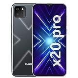 CUBOT X20 Pro Smartphone ohne Vertrag, 4G LTE 6,3 Zoll Smartphone, 6GB RAM+128GB ROM, 4000mAh Akku, 20MP/12MP/8MP + 13MP Kamera, Dual SIM Handy Android 9.0, Face ID(Schwarz)