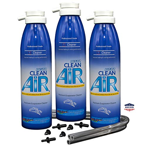 DWD2 Clean AIR Premium Automotive Foaming AC Evaporator Coil Cleaner (Unscented) Renew Your air Conditioner! (3 Pack)
