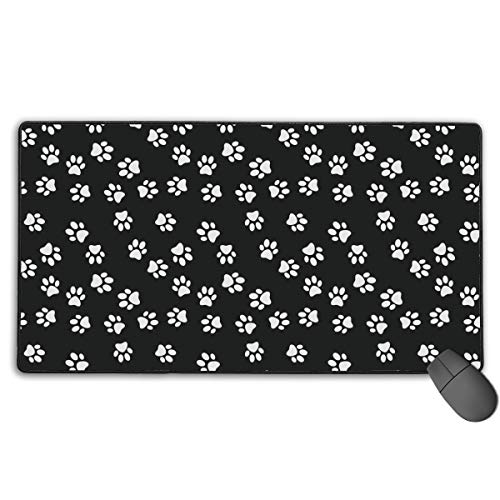 Best Laptop Pc Mouse Pad with Rubber Base Long Big Comfortable Mouse Mat Dog Paw Print Cool Gaming Desk Pad for Youth Working