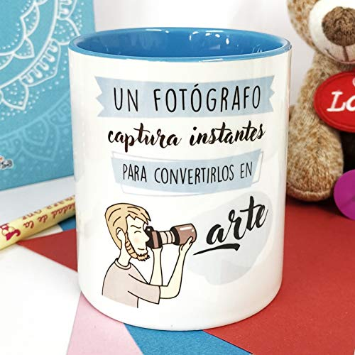 La Mente es Maravillosa - Taza frase y dibujo divertido (Un fotógrafo captura instantes para convertirlos en arte) Regalo para un Fotógrafo