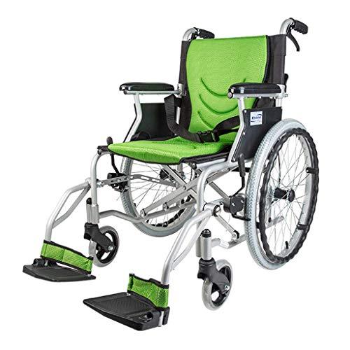 FAP Leichter Faltender Oldtimer-Roller, Alu-Rollstuhl, Rollscheinwerfer mit Eigenantrieb, Manueller Rollstuhl, Tragbar, Blau, a