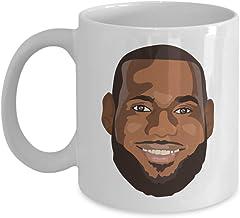 MyFaveGift Lebron James Cartoon Hot Coffee Mug King James LABRON Basketball Birthday Graduation Office Gift 11oz