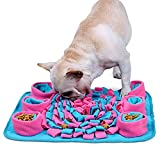 LC-dolida Snuffle Mat for Dogs, Dogs Slow Feeding Training, Encourages Natural Foraging Skills, Pet Play Puppy Interactive Puzzle Toys, Durable and Machine Washable, Perfect for Any Breed